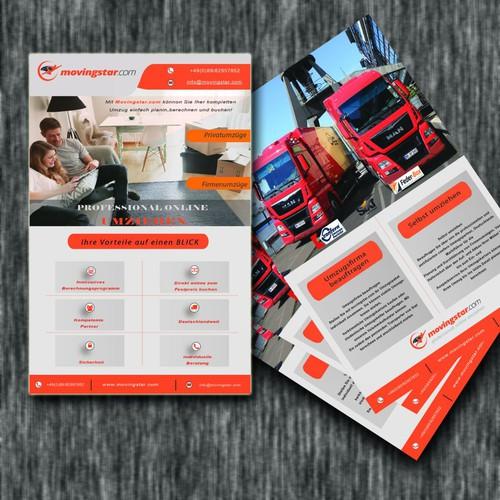 Flyer Design for online moving company