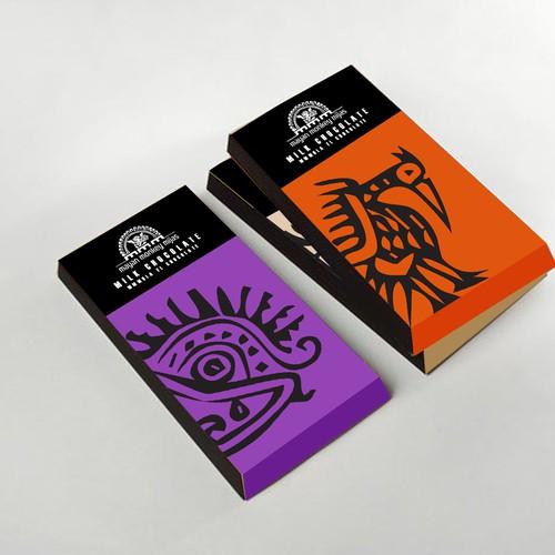 Mayan Monkey Mijas - Chocolate Factory - Product Packaging