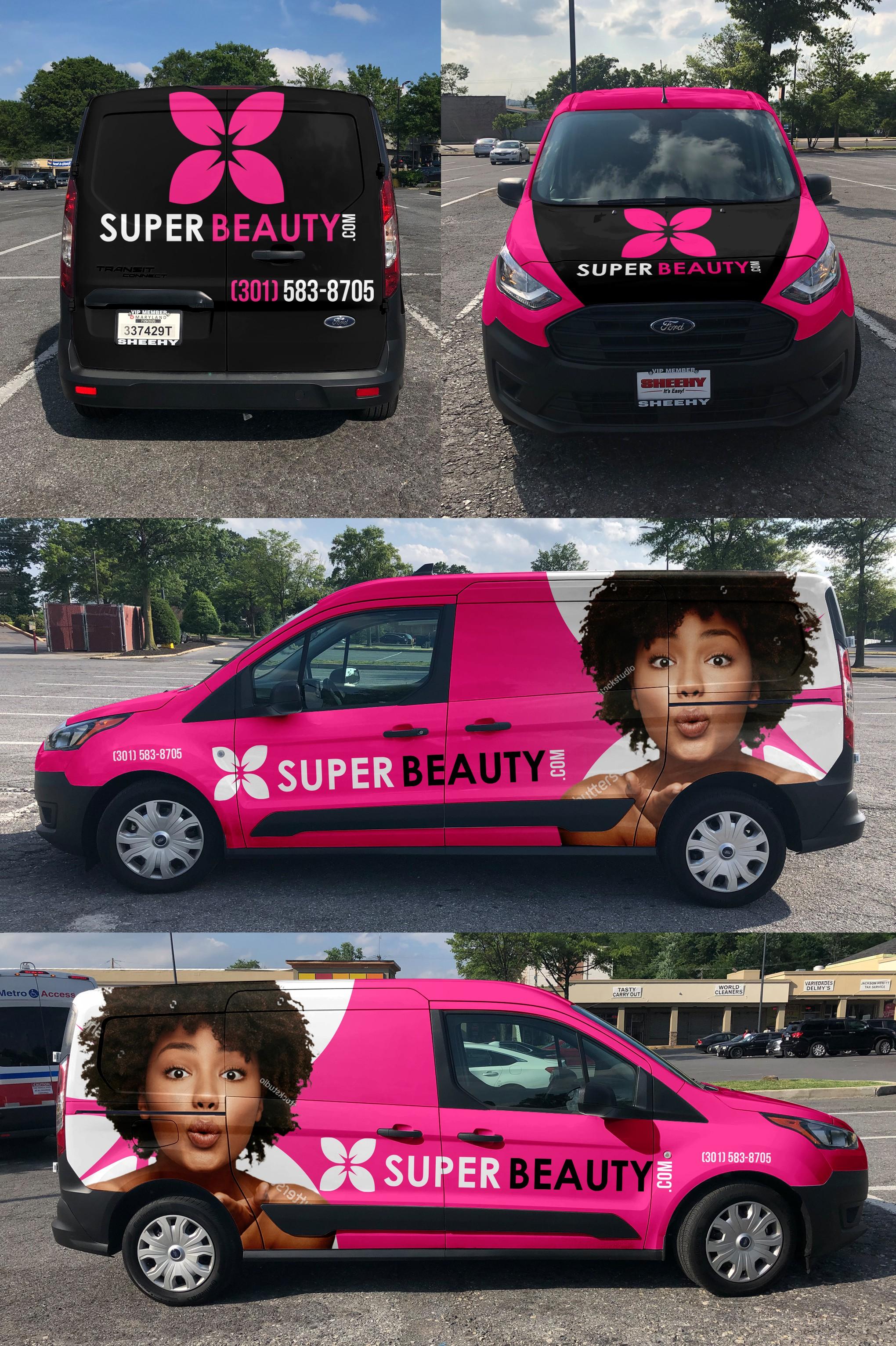 "Design a Super Beauty (Clean, modern look that ""POPS"") Van Wrap"