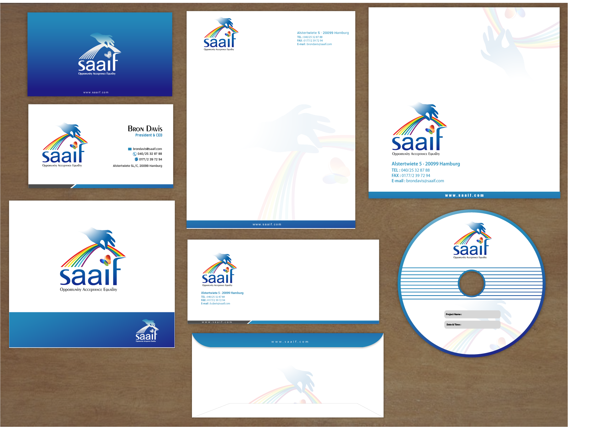 SAAIF - Support & Advocacy for Autism Spectrum Individuals & Families needs a new stationery