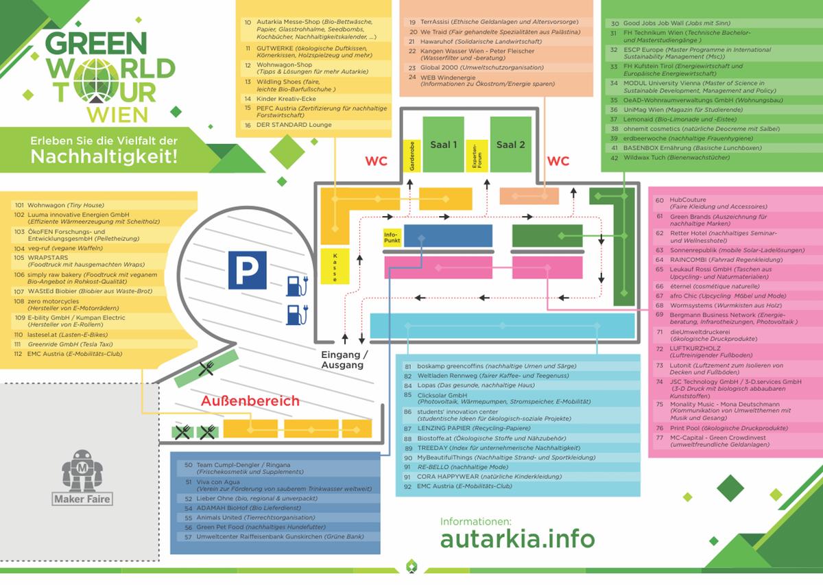 Create a map for exhibition/fair Vienna 2018
