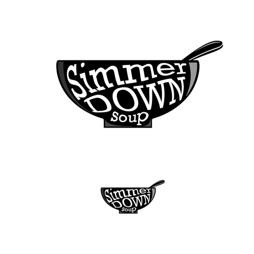 Simmer Down Soup Food Truck Logo Concept