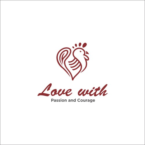 LOGO LOVE CHICKEN