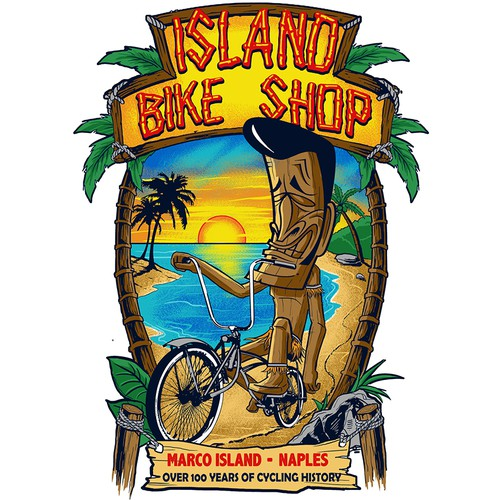 fun tiki beach for ISLAND BIKE SHOP