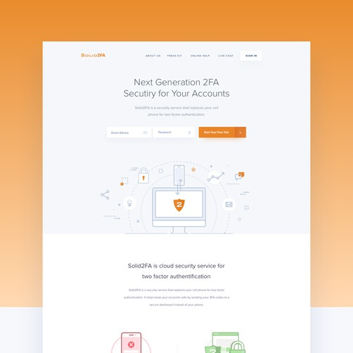 Homepage for Solid2FA