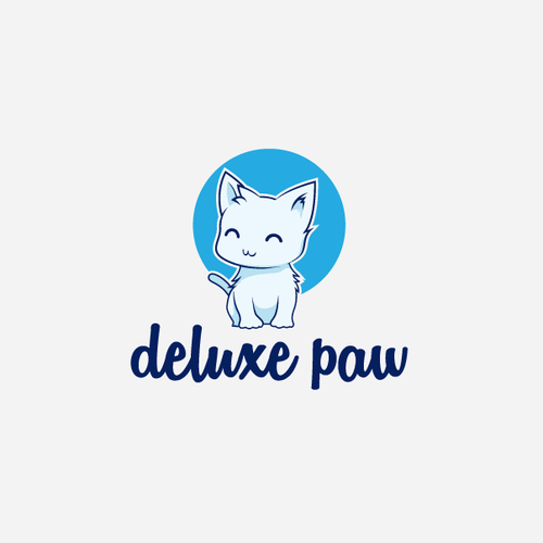 rejected logo for deluxe paw