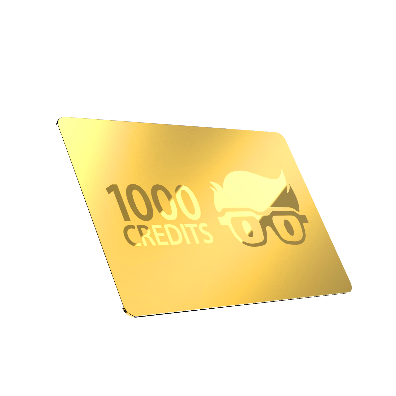 "Create a Beautiful Golden ""Credit"" Card!"