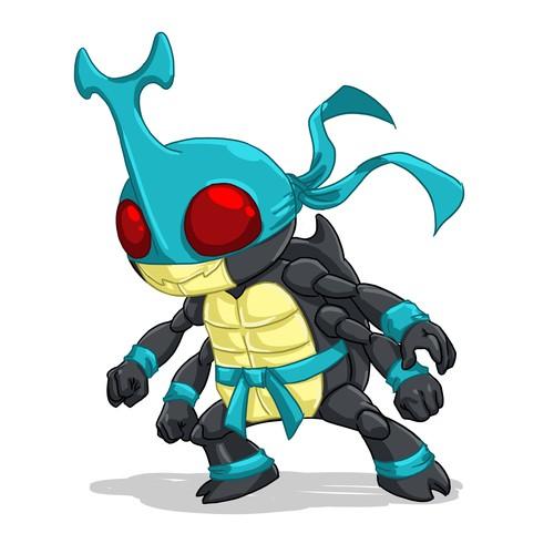 Beetle Ninja Cartoon