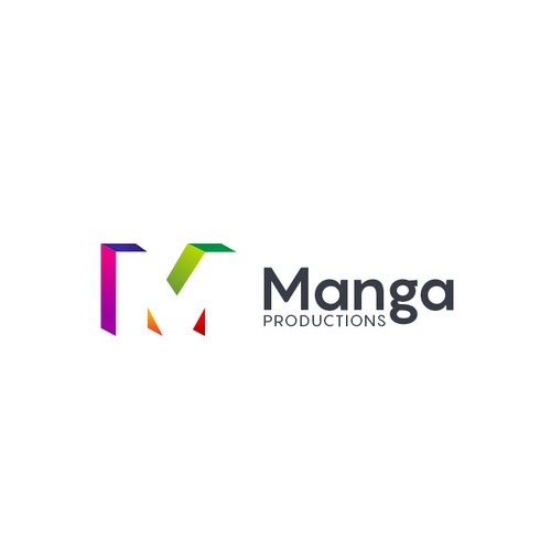 Creative logo concept for Manga Productions