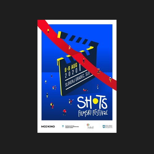 Poster design for Shots, a slovenian Short Film International Festival