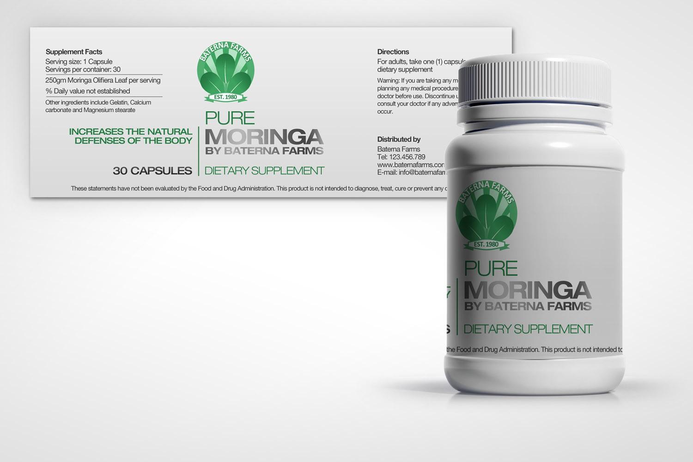 Sleek, Bold Vitamin Label design wanted for Baterna Farms