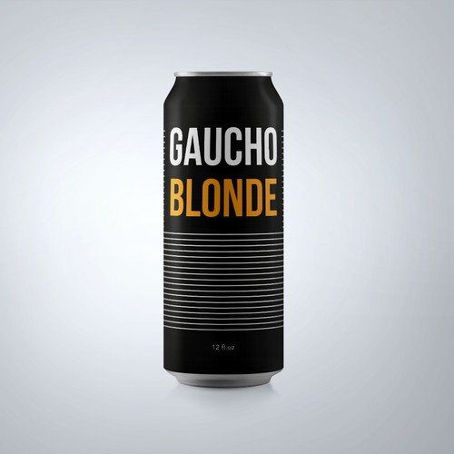 Beer label with stylish design
