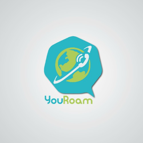 Create modern calling app logo for YouRoam