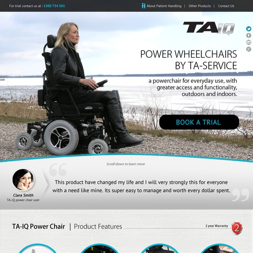 Create a great landing page for Power wheelchairs