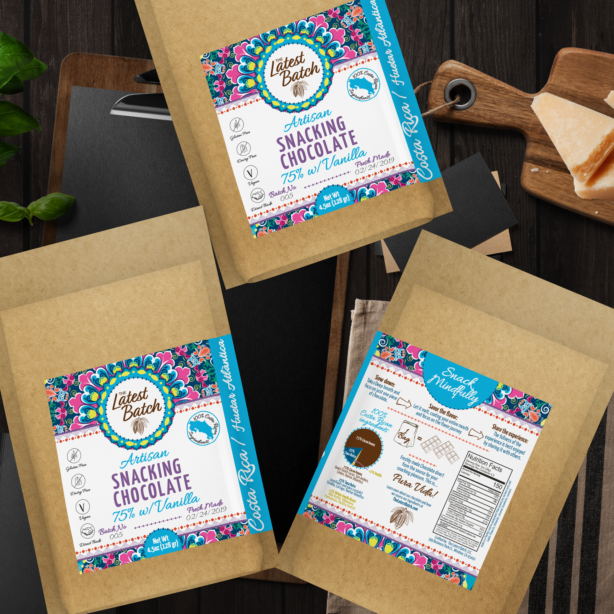 The latest batch chocolate label redesign