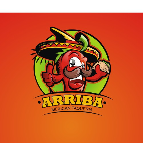 Create a logo for ARRIBA mexican fastfood.