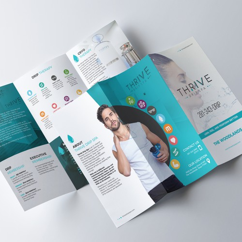 Thrive Drip Spa Tri-fold brochure