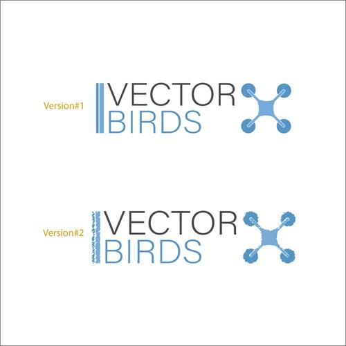 Concept de logo pour entreprise de vente de drones