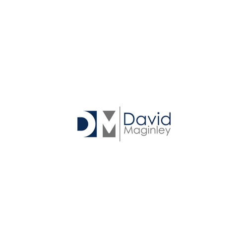 simple logo for david maginley