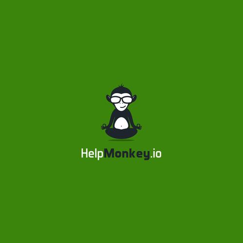 logo concept for HelpMonkey.io