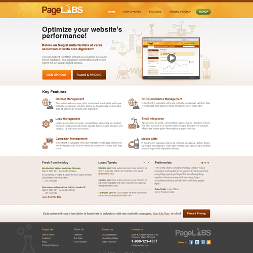 Website design for PageLabs