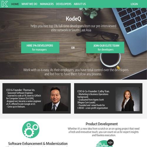 Rethinking the Homepage of KodeQ