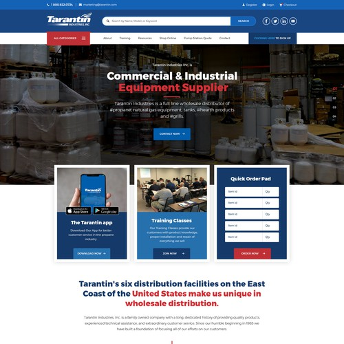 Website for Propane E-Commerce site