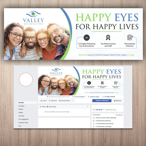 Facebook Cover Page for Valley Optometry
