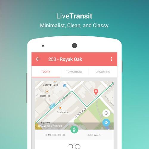 Minimalist App Design for Live Transit