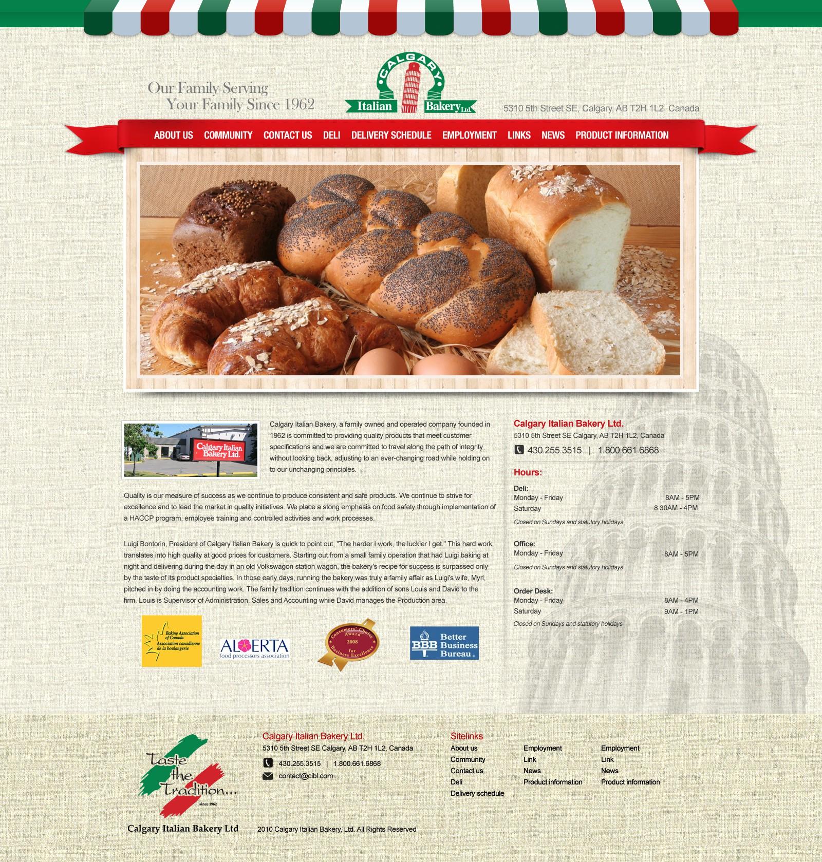 Italian Bakery (CIBL) needs a new website