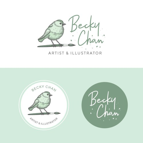 Feminine logo for an artist & illustrator