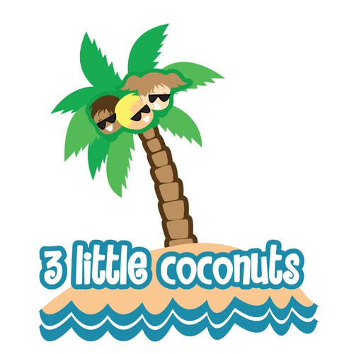 Create a crisp logo for a baby product company -  3 Little Coconuts