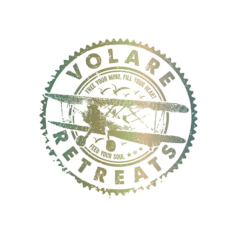 Need a logo to sweep you away with Volare Retreats!