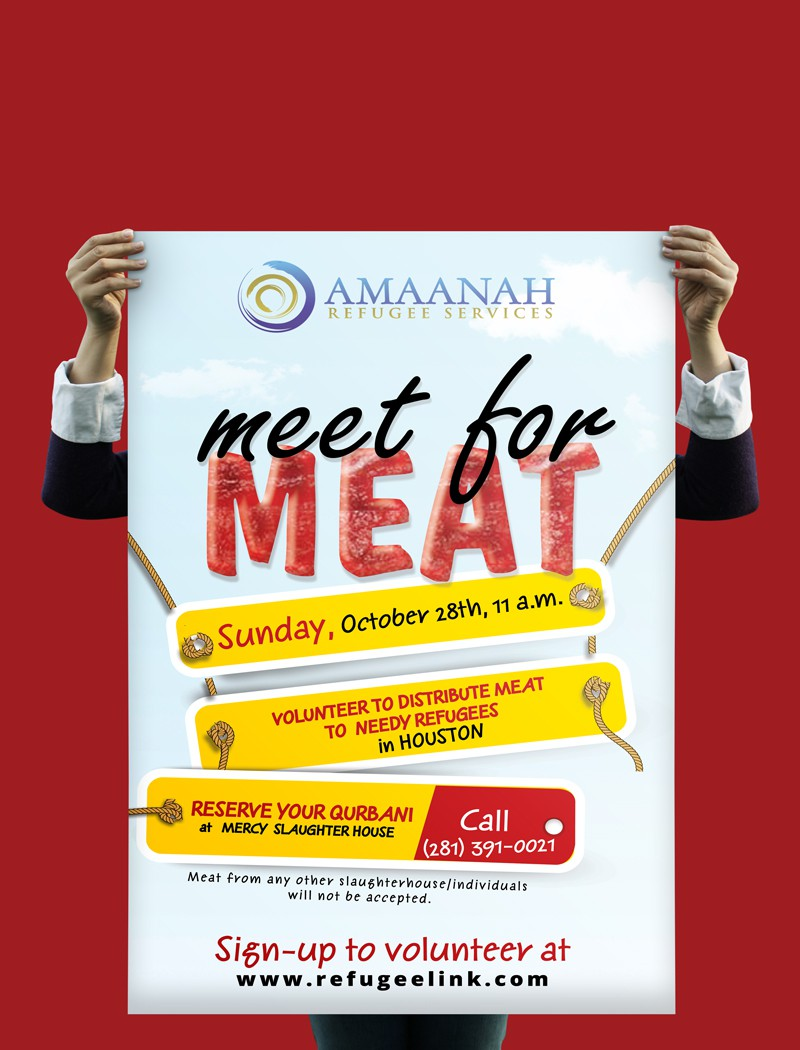 Help Amaanah Refugee Service with a new postcard or flyer