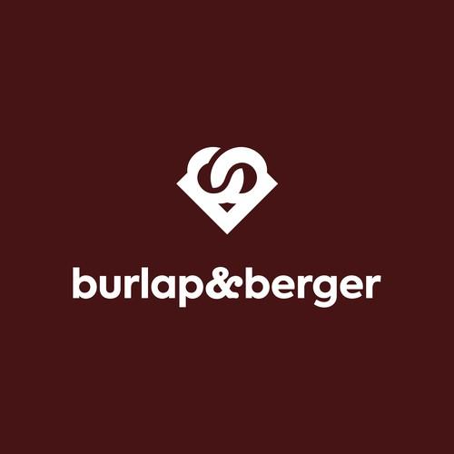 burlap and berger