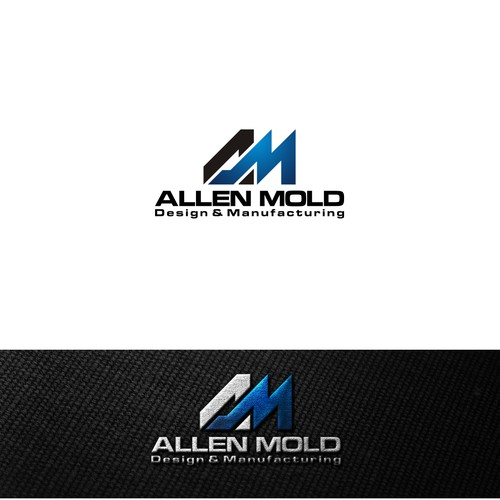 allen mold logo design