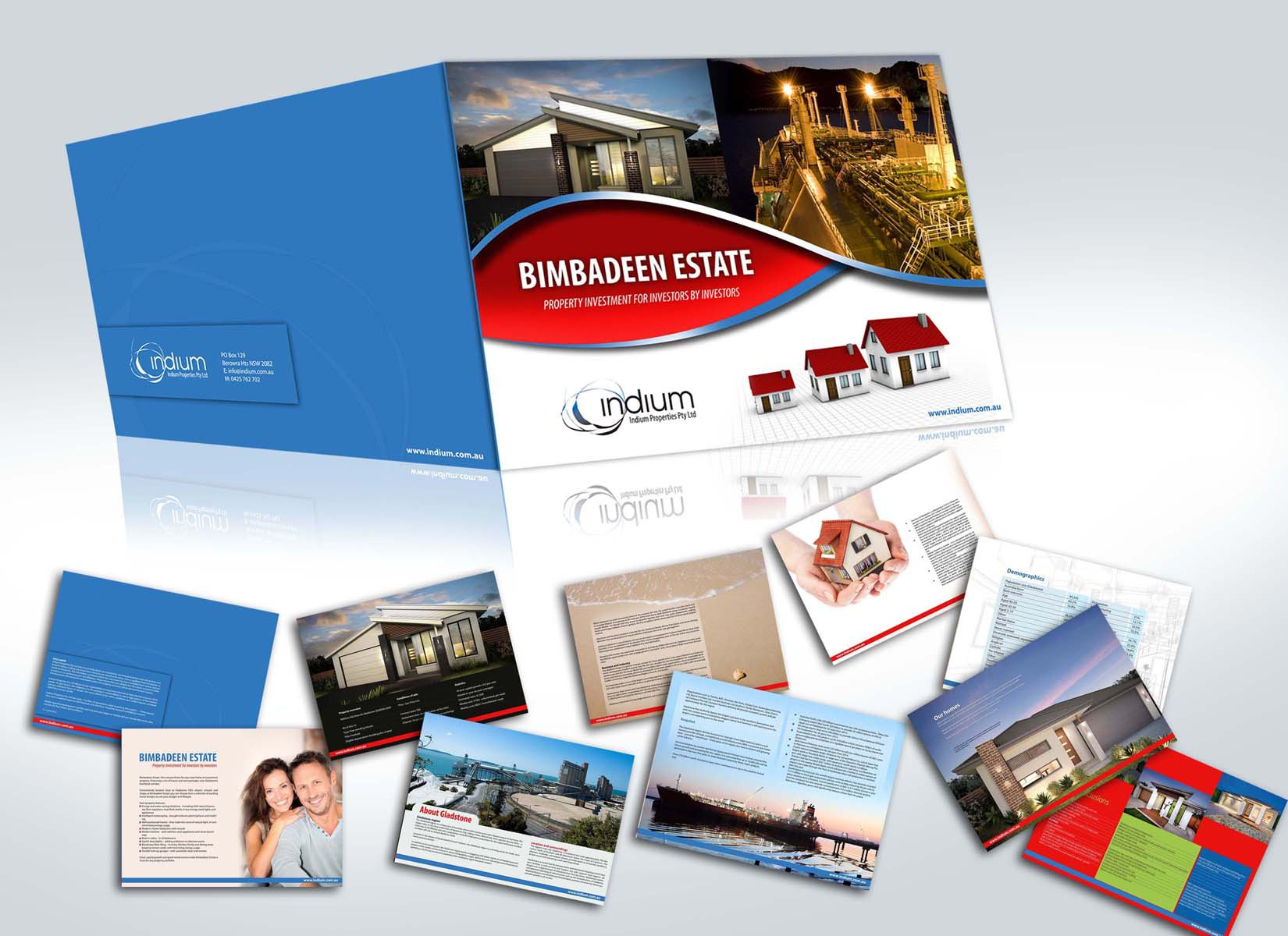 Create the next brochure design for Indium Properties