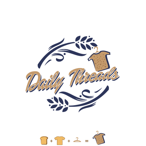 Unique and memorable logo for Daily Threads Apparel brand