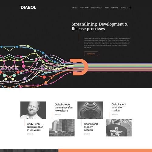 Homepage for Diabol