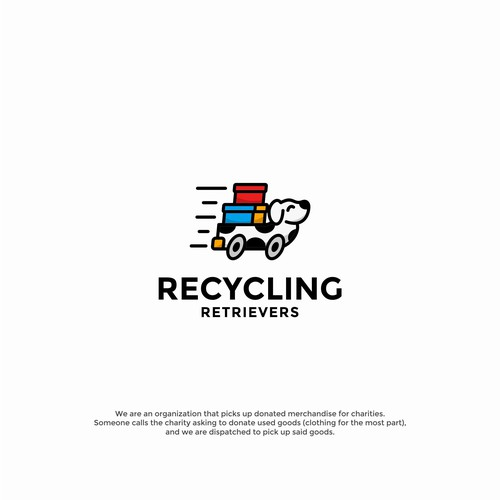 Playful logo for Recycling Retrievers