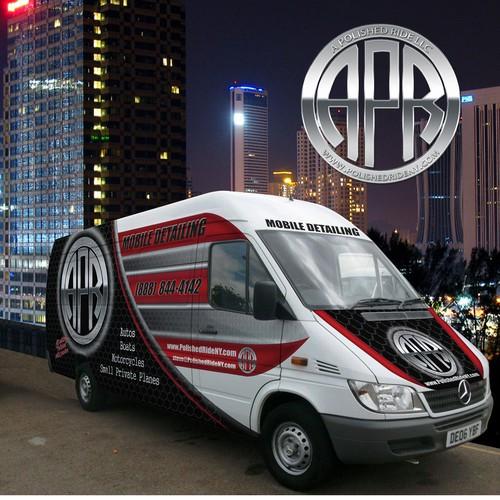 Van wrap design for APR