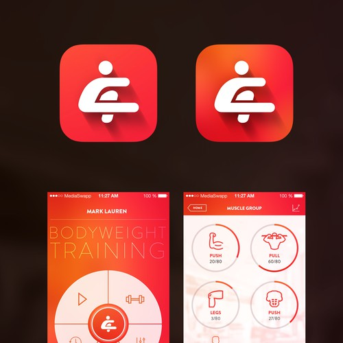Redesign our successful fitness app to be more modern (newer iOS 7 & 8design)
