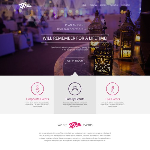 Modern Design for a Top Event Management Company
