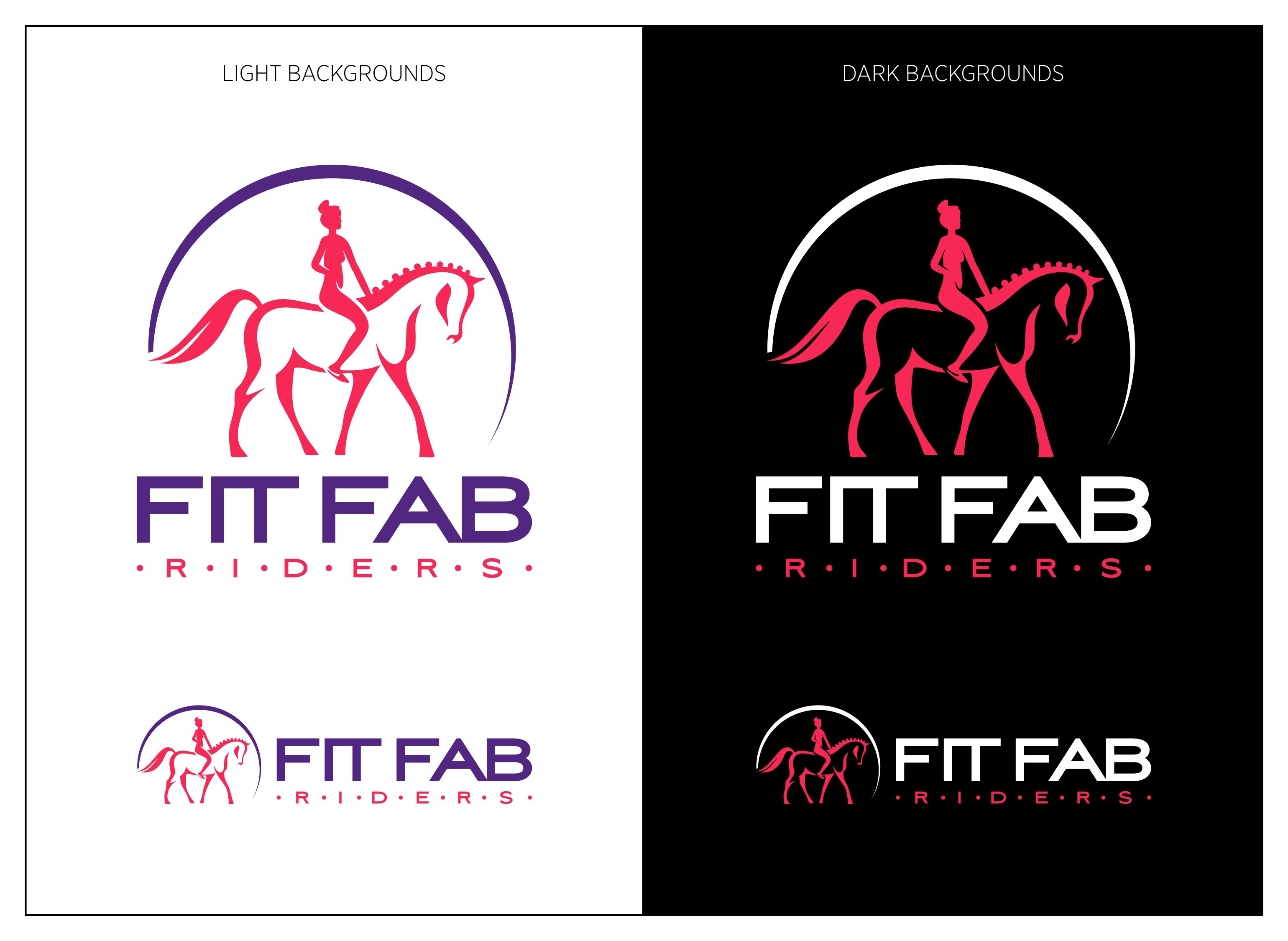 Create an image to entice equestrians/horse lovers to get fit