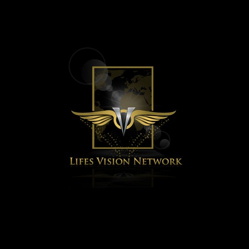 Create a Captivating logo that conveys wisdom yet subtlety for LifesVisionNetwork