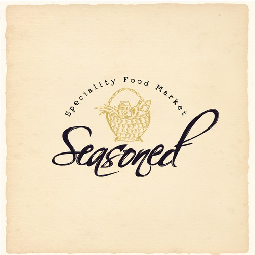 Hand-Drawn Typography and Logo for Grocery