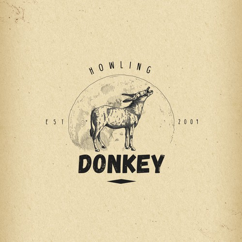 Vintage Logo for Howling Donkey