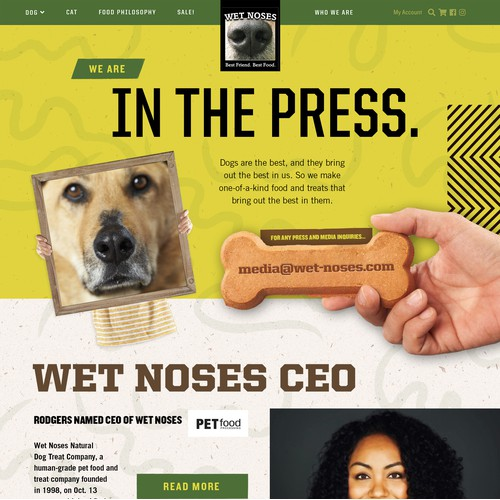 Audacious Webpage Design for Wet Noses