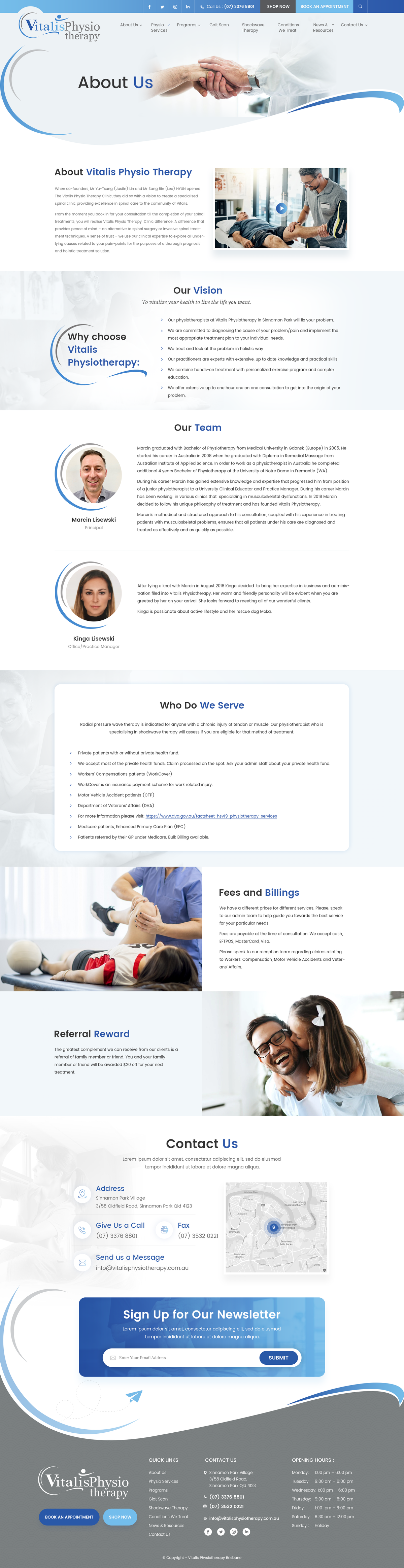 Vitalis Physio Therapy Inner pages