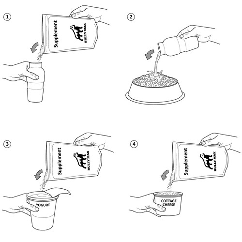 illustration mixing instructions for supplement company